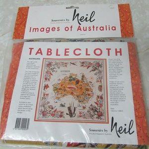 Australia Linen Cotton Souvenir by Neil Tablecloth